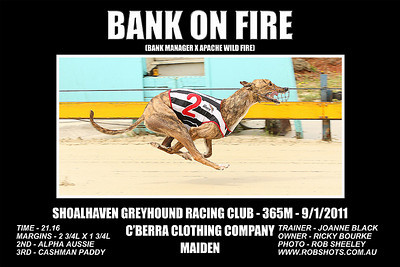 Nowra_090111_Race04_Bank_On_Fire