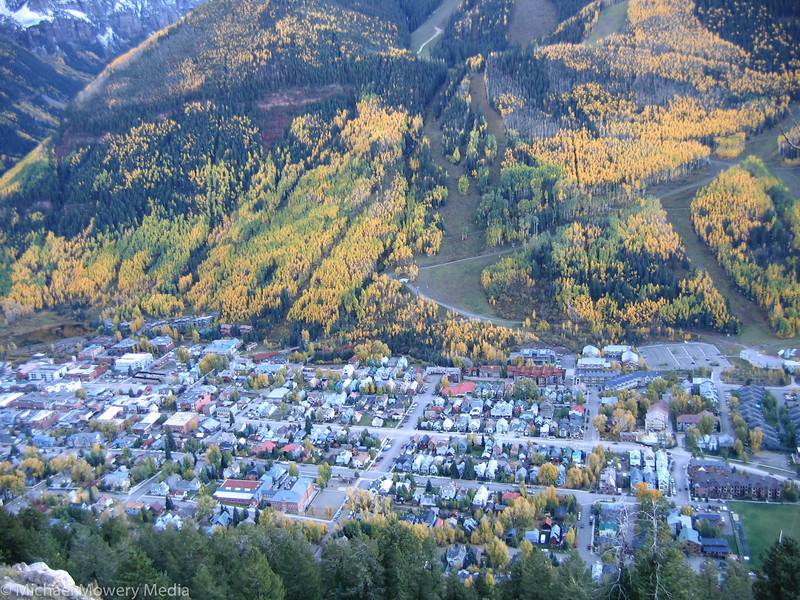 My little town of Telluride as seen from the Jud