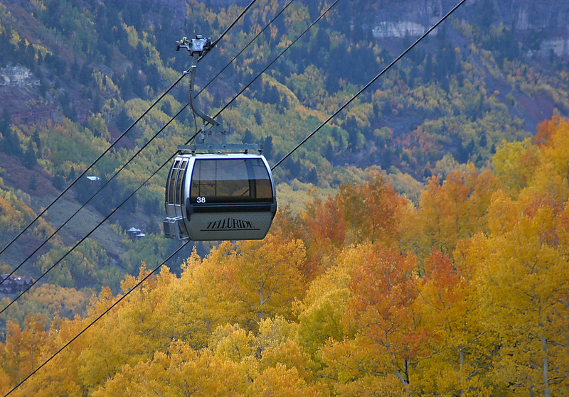 Telluride Gondola with Color