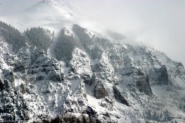 Ajax Mountain after a big storm.