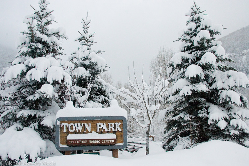 Pictures from a walk around Telluride's Town park after a late March snow storm.