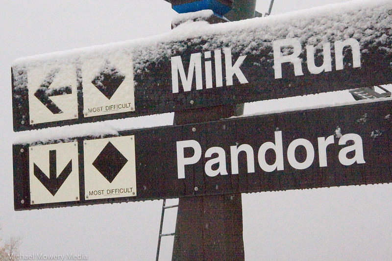 First big snow up at the top of the Milk Run