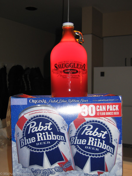 Smuggler's Red and Pabst Blue Ribbon.  The two beers I drink the most in Telluride.