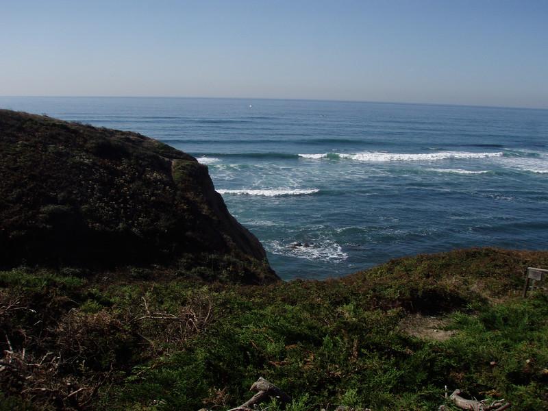 Having a quick break at a restaraunt near Santa Cruz