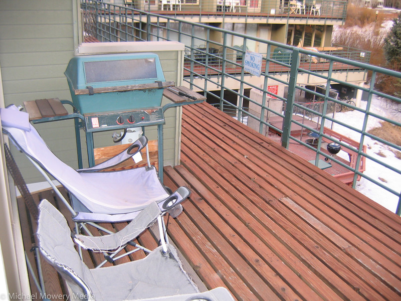 My deck, March 1, and NO SNOW.