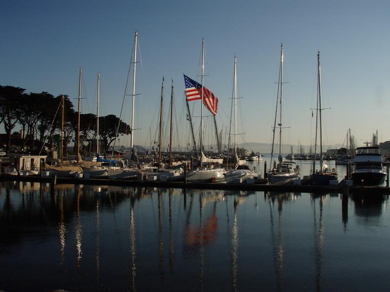 Marina near Golden Gate Bridge