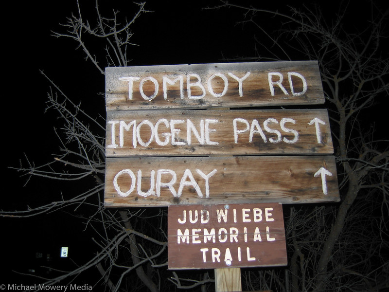 It was 7:20pm when I finished hiking the Jud Wiebe trail, and quite dark.