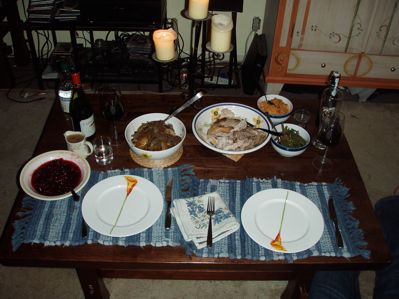 Thanksgiving Dinner that Mary Dawn cooked.
