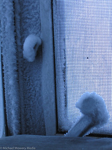 Frost on window openner