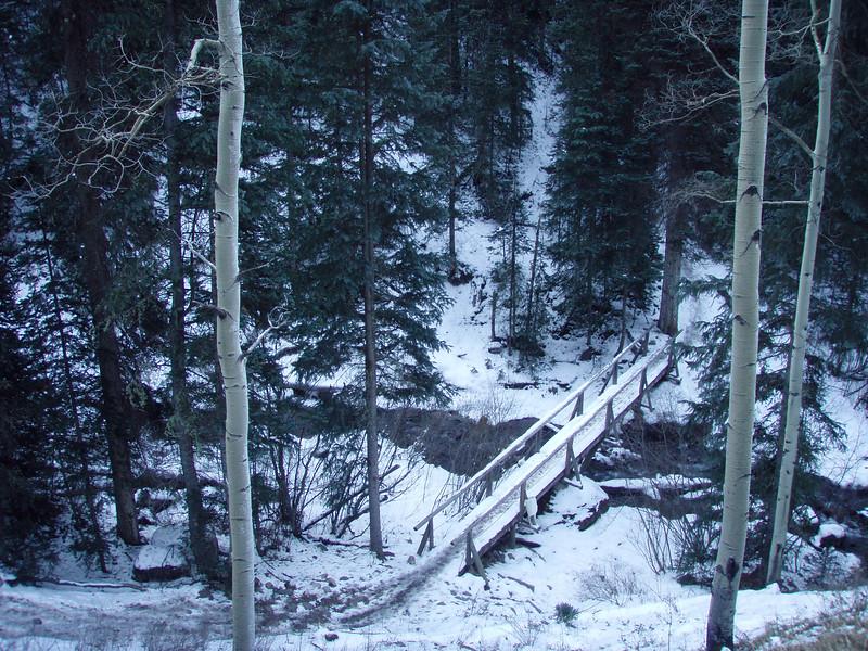 Slippery Bridge over Cornet Creek