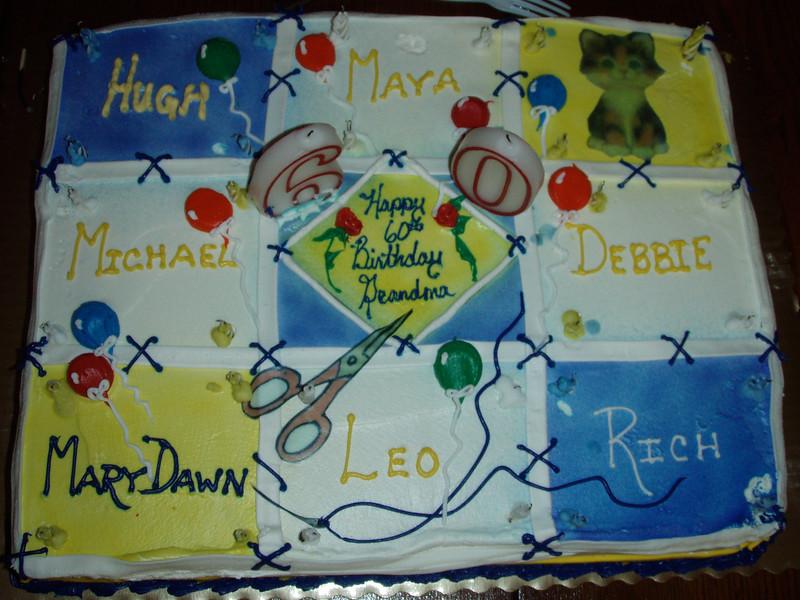 Mom's 60 Birthday Cake