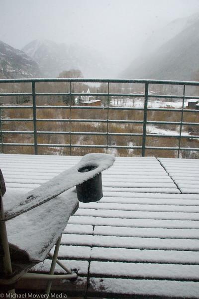 Late April Snow Storm in Telluride Colorado