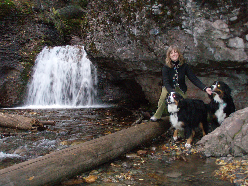 Mary Dawn at the Lower Bear Creek Waterfall
