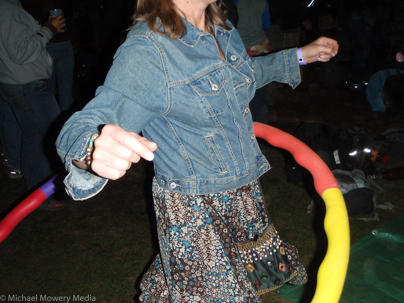 Mary Dawn get's into her Hoola Hoop