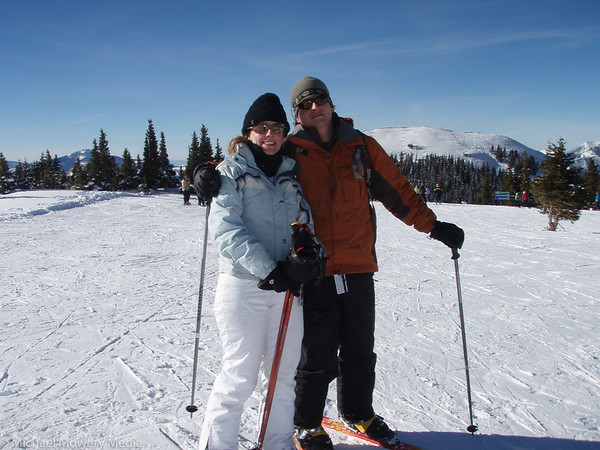 Mary Dawn and I skiing on New Years Day