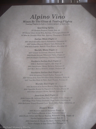 Alpino Vino Wine List