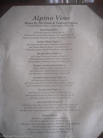 Alpino Vino Wine List