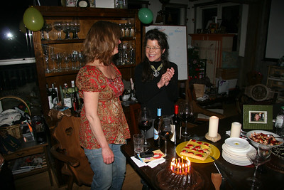 Mary Dawn blowing out the candles