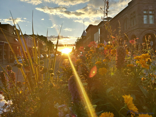 Sun rays down main street