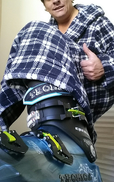 Good day. New boots, new robe, what else can a ski bum ask for?