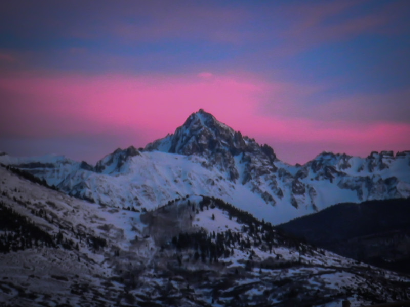 Mount Sneffles In Pink