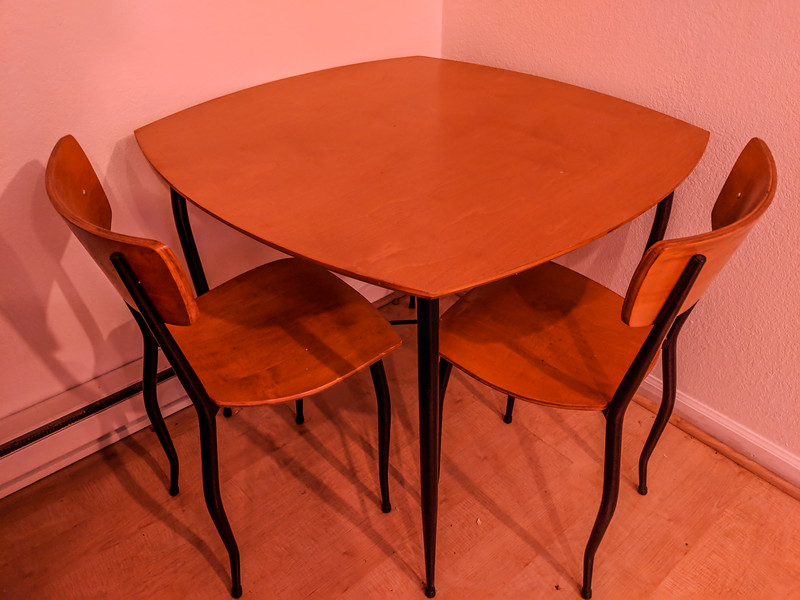 Cherry Wood Finished Table and Chairs