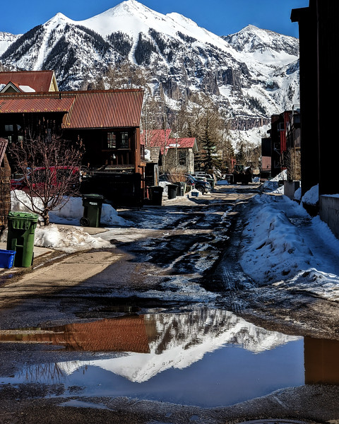#alley and #puddle #reflection #telluride #photooftheday #day63