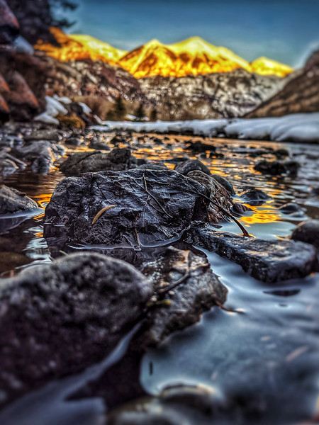 sunset reflection in san Miguel, telluride, colorado , photooftheday ,day48