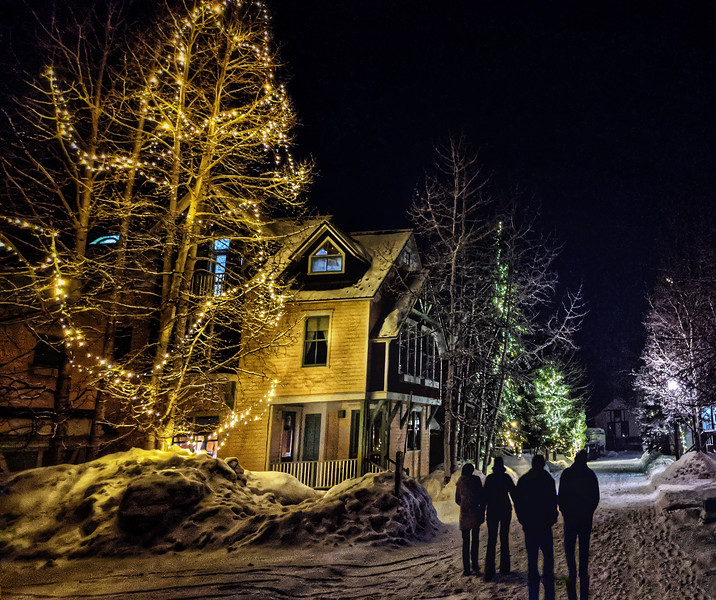 "Walk home after an wonderful evening with a ""family in the making"". #photooftheday #day47 #telluride #colorado Bill Schroeter Britt Schroeter"