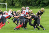 16 July 2017 at Beltane Park. BAFA Division 2 match. Clyde Valley Blackhawks v Aberdeen Roughnecks
