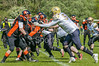 14 May 2017 at Lochinch. BAFA Division2 American Football - Glasgow Tigers v Clyde Valley Blackhawks