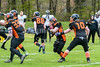 29 April 2018 at Nethercraigs, Glasgow. BAFA Division 1 North match  Glasgow Tigers v Yorkshire Rams