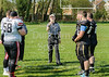 21 April 2019 at Beltane Park, Wishaw.<br /> BAFA Division NFC2 North match - Clyde Valley Blackhawks v Darlington Steam