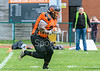 28 April 2019 at Nethercraigs, Glasgow. <br /> BAFA Division NFC1 North game - Glasgow Tigers v Yorkshire Academy Rams
