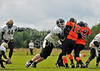Glasgow Tigers v Clyde Valley Blackhawks. <br /> A BAFANL Division 2 match played at Lochinch on 29 July 2012.