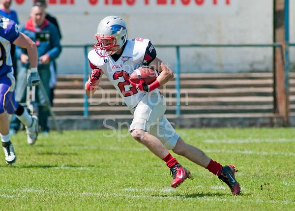 West Coast Trojans v Shropshire Revolution, A BAFANL Division 1 match played at Troon FC on 24 June 2012