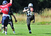 Lanarkshire Longhorns v Lancashire Wolverines. A Junior play-off game played at Lochinch, Glasgow on 25 August 2013.