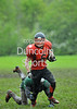 Glasgow Tigers v Aberdeen Roughnecks. BAFANL National League game at Lochinch on 11 May 2014.
