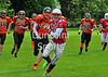 Glasgow Tigers v West Coast Trojans. A BAFANL National League game at Lochinch on 18 August 2014.