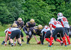 15 July 2018 at Beltane Park, Wishaw. <br /> BAFA Division 2 match - Clyde Valley Blackhawks v Aberdeen Roughnecks