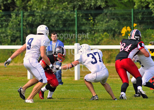 East Kilbride Pirates v London Blitz<br /> The BAFANL Premier League play-off semi-final match played at Hamilton Rugby Club on 12 August 2012.