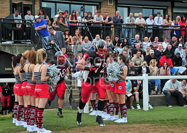 East Kilbride Pirates v Tamworth Phoenix.<br /> A BAFANL Premier League North match played at Hamilton Rugby Club on 20 May 2012.