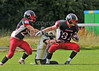 EK Pirates v Yorkshire Rams<br /> A BAFANL Premier League North match played at Hamilton Rugby Club on 28 July 2012.