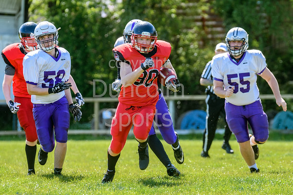 12 May 2019 at GHA Rugby Club, Glasgow. BAFA Under 19 match - East Kilbride Pirates v Yorkshire Academy Assassins