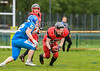 2 June 2019 at GHA Rugby Club, Braidholm, Glasgow. BAFA under 19 match - East Kilbride Pirates v Manchester Titans