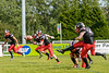 30 June 2019 at GHA Rugby Club. BAFA NFC1 North game - East Kilbride Pirates v Aberdeen Roughnecks