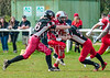 9 April 2016 at Hamilton Rugby Club. BAFA Premier Division game, East Kilbride Pirates v Edinburgh Wolves