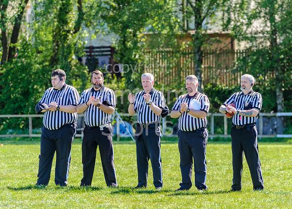 12 May 2019 at GHA Rugby Club, Glasgow. BAFA Division 1 North Match - East Kilbride Pirates v Yorkshire Academy Rams