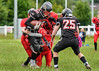 1 July 2017 at Hamilton Rugby Club. BAFA under 17 league, Scottish Division. <br /> Hamilton Buccaneers v Highland Wildcats
