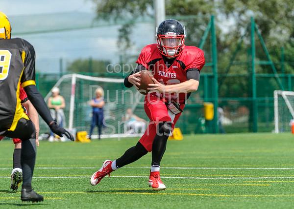 23 July 2017 at JMO Sports Park, Skelmersdale. BAFA Under19  Premier north division -  Merseyside Nighthawks v East Kilbride Pirates